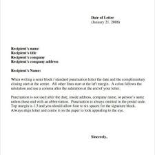 Personal Business Letter Definition example of business letter semi block style choice image