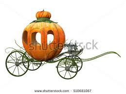 pumpkin carriage 3d rendering cinderella pumpkin carriage isolated stock