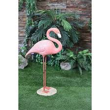 new large pink flamingo stand statue garden ornaments outdoor yard