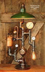Steunk Light Fixtures Industrial L Vintage Oiler Green Shade 1074