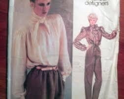 bow blouse pattern etsy
