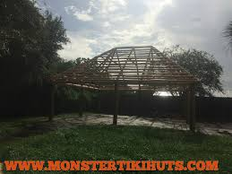 30x30 custom backyard tiki hut construction project in apopka