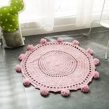 tapis rond chambre b 2018 nouveau crochet rond tapis et tapis pour enfants chambre