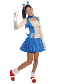 Teenage Halloween Costumes For Girls Sonic The Hedgehog Costumes Classic Video Game Sonic Costumes
