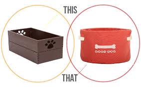 stylish dog products modern baskets for dog toys pawsh magazine