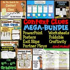 context clues foldable craftivity and worksheets context clues
