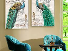 Blue Bird Home Decor Decor Peacock Home Decor Peacock Feather Place Mat Or