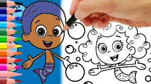 best coloring pages for kids bubble guppies youtube