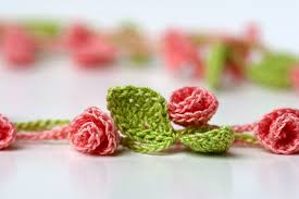 crochet jewelry bracelet images Rose garden crochet necklace yarn twist jpg