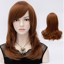 wigs medium length feathered hairstyles 2015 graceful mid length straight brown hair wig with feathered ends 20