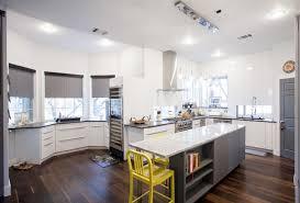 Slab Door Kitchen Cabinets by Modern White And Grey Slab Door Kitchen