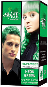 how to get splat hair dye out of hair amazon com splat kit neon green vert 3 ounce with splat oxide