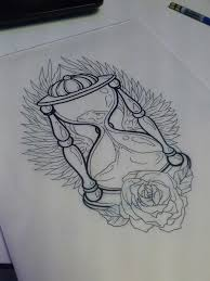 15 best hourglass tattoo stencils images on pinterest hourglass