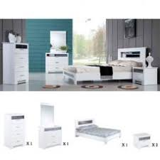 Olivia Bedroom Furniture Sets High Gloss White - White high gloss bedroom furniture set
