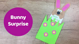 easter bunny surprise gift card great easter craft for kids