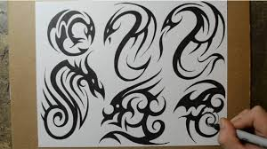 tribal dragon tattoo designs sketching ideas youtube