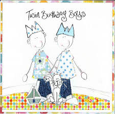 birthday cards for twins special twins greeting card happy