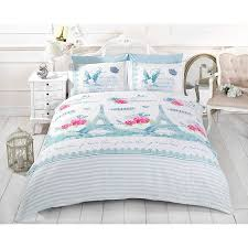 eiffel tower girls bedding just contempo french paris duvet cover set king blue amazon co