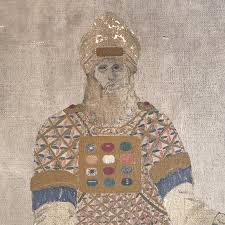 breastplate of high priest painting of high priest with breastplate by gh hydes