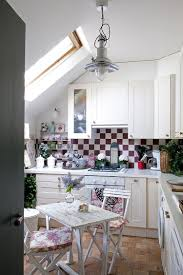 50 fabulous shabby chic kitchens that bowl you over ample natural light color scheme and shabby chic style fashion a lovely attic kitchen