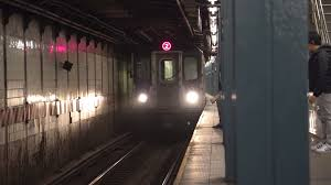 time lapse of new york city subway station platform manhattan