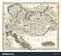 bohemia map 1799 antique map austria yugoslavia bohemia stock illustration