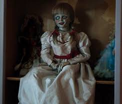 Conjuring Halloween Costumes Courteney Masters Creepy Annabelle Doll Costume Photo Weekly