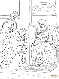 samuel anoints david and king bible coloring pages eson me