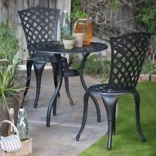 bistro patio set 3 piece outdoor table chair small space balcony