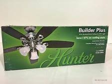 Hunter Stratford Ceiling Fan by Hunter Stratford 44 In Indoor Brushed Nickel Ceiling Fan 52015 Ebay
