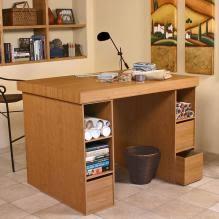3 Bin Cabinet Project Center With 1 Bookcase U0026 3 Bin Cabinet