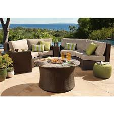 Curved Patio Sofa Elements Weave Taupe Canvas Curved Outdoor Sofa 1f675 Ls Plus