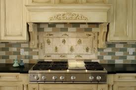 ideas for backsplash kitchen cabinets ready made dark green