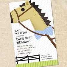 preppy kentucky derby inspired invitations for boy u0027s birthdays and