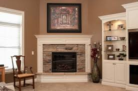 Electric Corner Fireplace Fireplaces Harlow Builders Inc