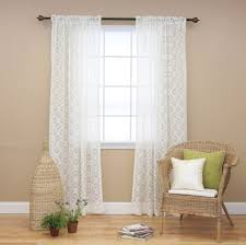 living room curtain panels interior design really simple ivory lace geometric curtain panel