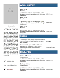 Resume Job History Format by Proper Format Of Resume