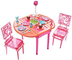 barbie dining room set barbie dinner to dessert dining room set furniture amazon canada