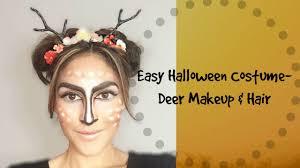 Deer Antlers Halloween Costume Easy U0026 Cute Halloween Costume Deer Makeup U0026 Hair