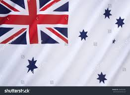 Navy Flag Meanings Australian White Ensign Naval Ensign Used Stock Photo 230492956