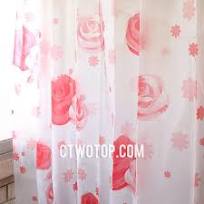 red and white rose patterned romantic dreamy cheap shower curtains
