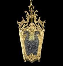 Vintage Antique Chandeliers Antique Lantern Pendant Light Restored Vintage Brass Bronze Glass