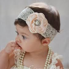 best hair accessories baby satin headbands girl pearl diamond lace hairbands