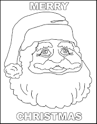 merry christmas santa free coloring pages for kids printable