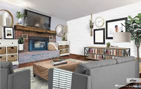 Sabrina The Teenage Witch House Floor Plan by Remodelaholic Real Life Rooms A Modern Country Living Room Makeover