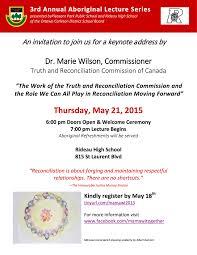 thanksgiving ceremony invitation invitation truth and reconciliation commission trc event at