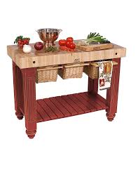 Kitchen Island Red Amazon Com American Heritage Kitchen Island With Butcher Block