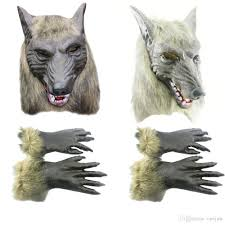 Werewolf Halloween Costumes Halloween Cosplay Realistic Werewolf Wolf Masks Latex