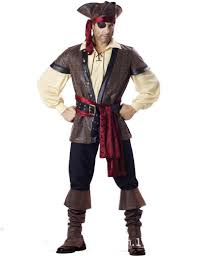 deluxe men u0027s pirate costume movie captain jack ruthless rogue