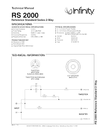 infinity rs 2000 infinity rs 2000 reference standard series 2